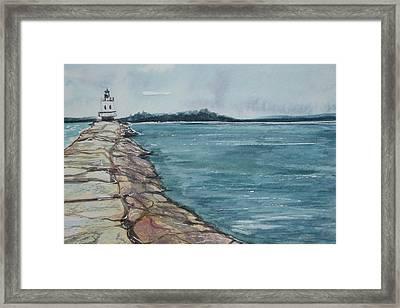 Spring Point Ledge Lighthouse Framed Print by Kellie Chasse