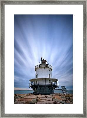 Spring Point Ledge Lighthouse Framed Print by Rick Berk