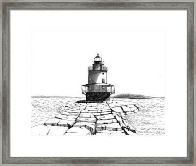 Spring Point Ledge Lighthouse Framed Print