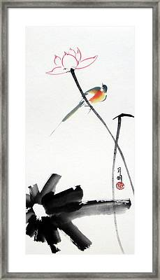 Spring Pond Framed Print by Ming Yeung