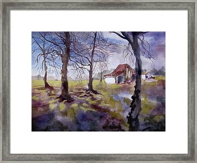 Spring Rains In Miami County Framed Print by James Huntley
