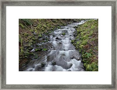 Spring Rapids On Perham Creek Framed Print by Jeff Swan