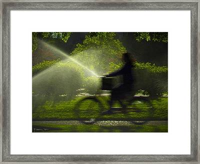 Spring Ride Framed Print by Gerry Tetz