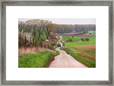 Spring Road. South Moravia Framed Print by Jenny Rainbow