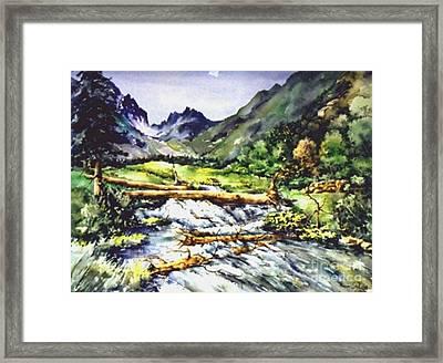 Spring Rush Framed Print by Marta Styk