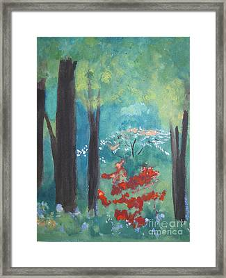 Framed Print featuring the painting Spring by Sandy McIntire