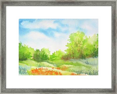 Framed Print featuring the painting Spring Scene by Inese Poga