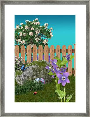 Spring Scene Framed Print by Mary Machare