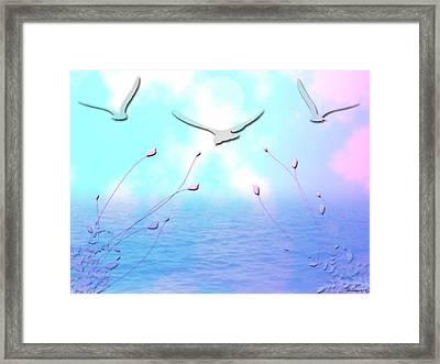 Spring Seas Framed Print by Evelyn Patrick