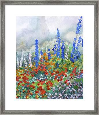 Spring Serenade Framed Print by Val Stokes