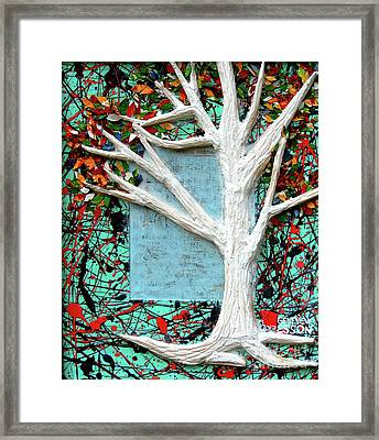 Framed Print featuring the painting Spring Serenade With Tree by Genevieve Esson