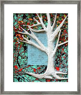 Spring Serenade With Tree Framed Print