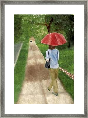 Framed Print featuring the painting Spring Series I by Patricia Cleasby