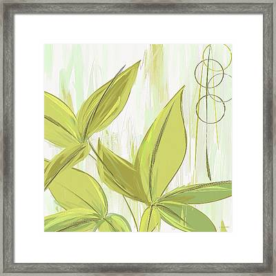 Spring Shades - Muted Green Art Framed Print by Lourry Legarde