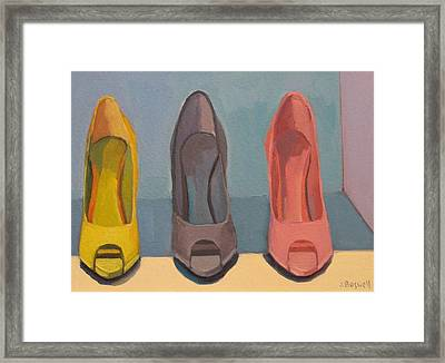 Spring Shoes Framed Print by Jennifer Boswell