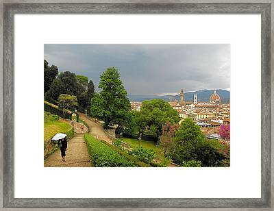 Spring Showers Framed Print by Gerald Hiam