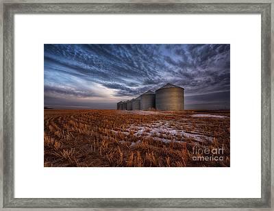 Spring Silos Framed Print by Ian McGregor