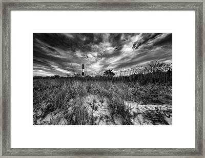 Spring Sky At Fire Island Framed Print by Rick Berk