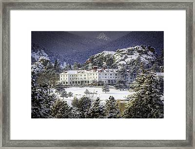 Spring Snow At The Stanley Framed Print by G Wigler