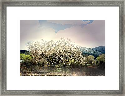 Framed Print featuring the photograph Spring Snow Inspiration by Anastasia Savage Ealy