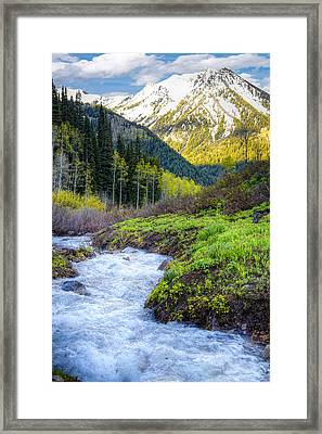Spring Snow Melt Wasatch Mountains Utah Framed Print