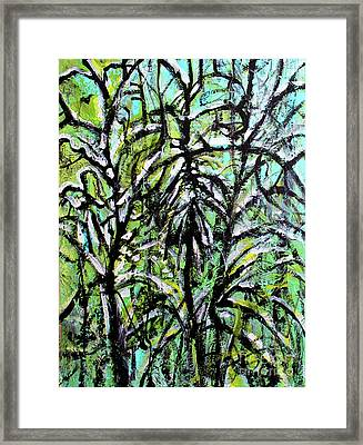 Framed Print featuring the painting Spring Snow by Priti Lathia