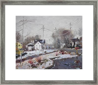 Spring Snowfall Framed Print by Ylli Haruni