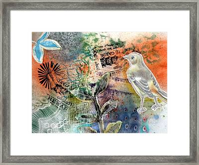 Framed Print featuring the mixed media Spring Song by Rose Legge