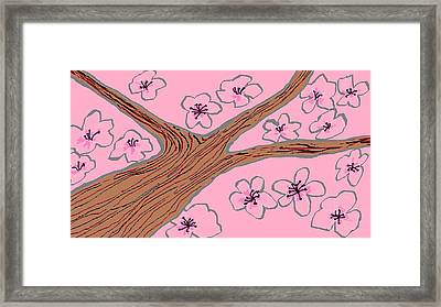 Spring Stained Glass 3 Framed Print