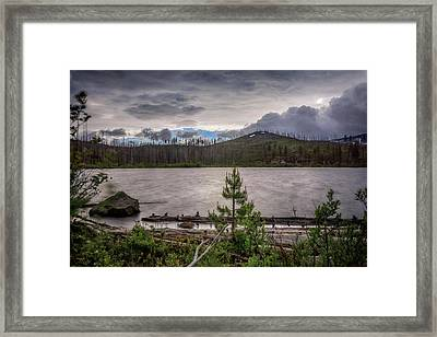 Framed Print featuring the photograph Spring Storm At Round Lake by Cat Connor