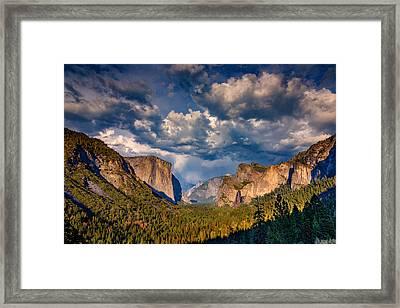 Spring Storm Over Yosemite Framed Print