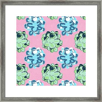Spring Succulents- Art By Linda Woods Framed Print