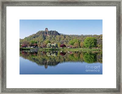 Spring Sugarloaf With Reflections Framed Print