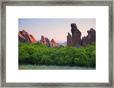 Spring Sunrise At Roxborough Framed Print