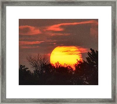 Spring Sunrise In Kentucky Framed Print