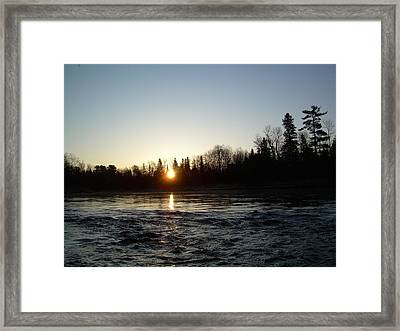 Framed Print featuring the photograph Spring Sunrise Over Mississippi River by Kent Lorentzen
