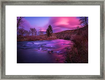 Framed Print featuring the photograph Spring Sunset Along The Truckee River Reno Nevada by Scott McGuire