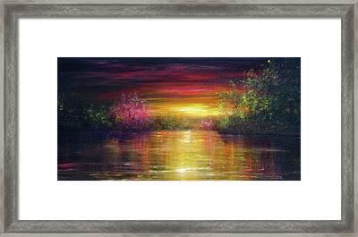 Spring Sunset Framed Print by Ann Marie Bone