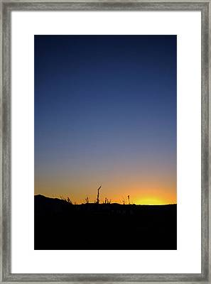 Spring Sunset Fort Mohave Az Framed Print