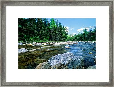 Spring-swift River Nh Framed Print by Michael Hubley