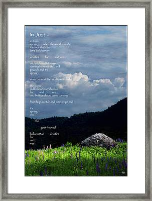 Spring Symphony With Cummings Framed Print by Wayne King