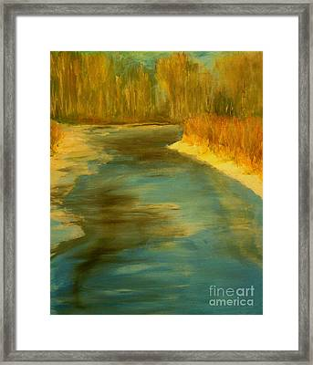 Spring Thaw Framed Print by Julie Lueders