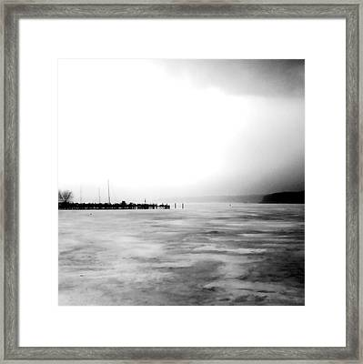 Spring Thaw Framed Print by Michelle Calkins