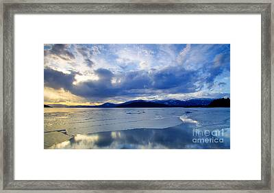 Spring Thaw On Pend Oreille Framed Print