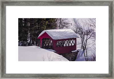 Spring Time At Vergennes Falls. Framed Print