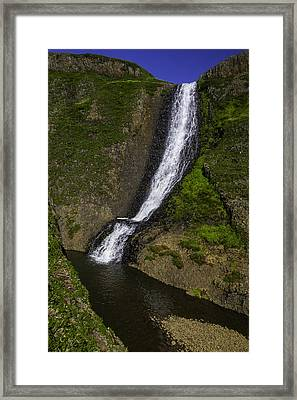 Spring Time Waterfall Framed Print