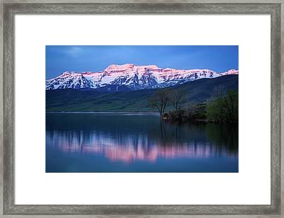 Spring Timpanogos Reflection Framed Print