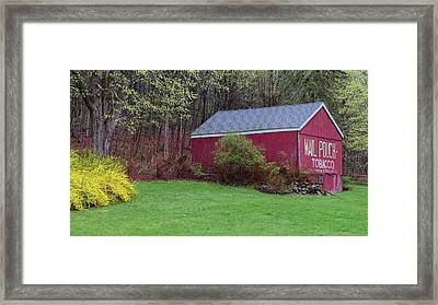 Framed Print featuring the photograph Spring Tobacco Barn by Bill Wakeley