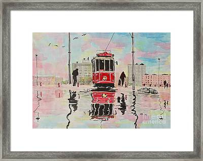 Spring Tram Framed Print by Marya Patapovich