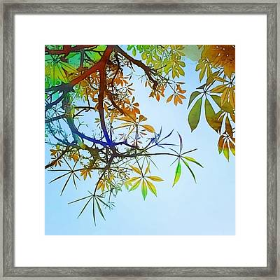 #spring #tree #leaves With #watercolor Framed Print